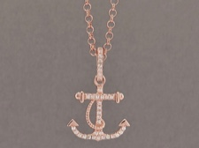 Rose Silver Anchor