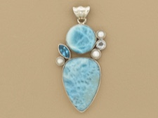 Larimar and Pearls