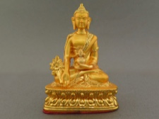 Gold Plated Medicine Buddha - the Supreme Healer