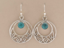 Turquoise Ornate Round