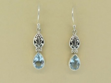Blue Topaz Tear Dangles