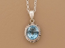 Blue Topaz Ornate Bail