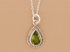 Peridot Tear Necklace