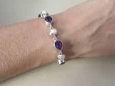 Amethyst and Mabe Pearl