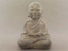 Quietly Sitting Monk - Stone Cast in Indonesia