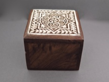 Aashiyana Blossom Carved Rosewood Box from India