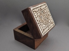 Aashiyana Blossom Rosewood Carved Box from India