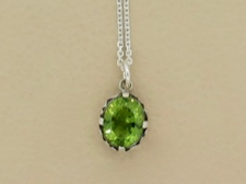Peridot Ornate Bezel
