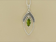 Peridot Dangle Necklace