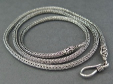 Chain, Sterling Foxtail 18in