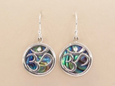 Abalone Om Earrings