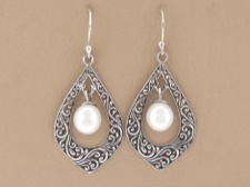Pearl Ornate Dangle