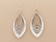 Ornate Shell Earrings