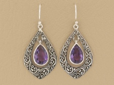Amethyst Ornate Dangle
