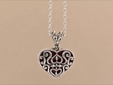 Sterling Ornate Heart