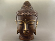 Bronze Shakyamuni Buddha Head for Meditation