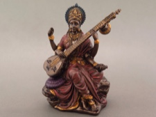 Miniature Saraswati - Goddess of Music and Art