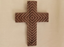 Handcarved Rosewood Cross from Bali, Indonesia