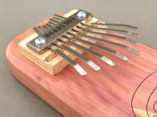 Handcrafted Cedar Board Kalimba with Petroglyph