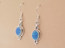 Opal Oval Earrings