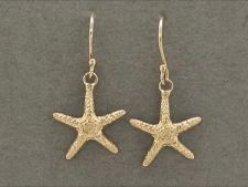Gold Starfish Dangles
