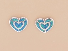 Opal Inlaid Hearts