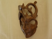 Handcarved Raintree Mask from Bali
