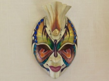 Dynamic Handpainted Butterfly Mask from Bali