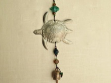 Iron Sea Turtle Chime with Handmade Bell