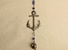 Iron Anchor with Blue Beads and Nano Bell