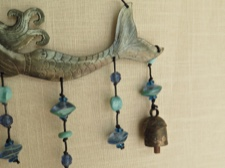 Gracefully Floating Mermaid Chime with Beads