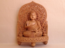 Tibetan Buddha in Protection Mudra Carved in India