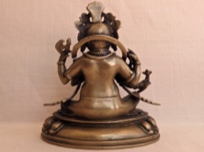 Beautifully Crafted Bronze Lord Ganesha from India