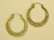 Brass Athena Hoops