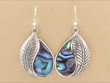 Abalone Leaf Dangle
