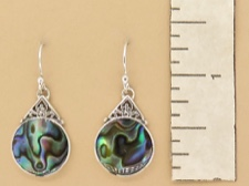Abalone Round Dangles