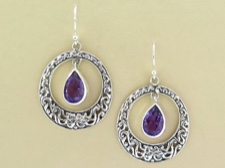 Amethyst Ornate Round