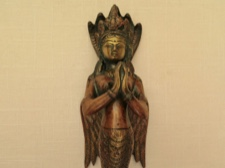 Naga Kanya Benevolent Goddess Iron Door Handle