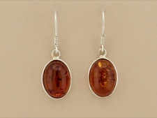 Amber Oval Dangle