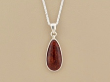 Amber Tear Necklace