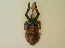 Guro Handpainted Double Hornbill Headdress