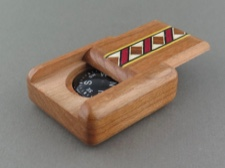Compass - Secret Box - American Cherry Wood