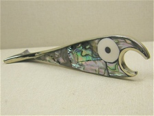 Abalone Inlaid Fish Bottleopener