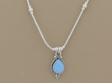 Opal Tear Necklace
