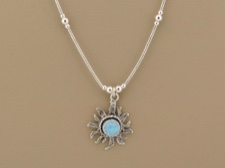 Opal Sun Necklace