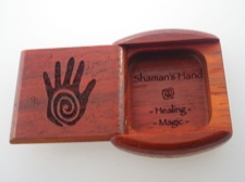 Secret Box - Shaman Hand - African Paduak Wood