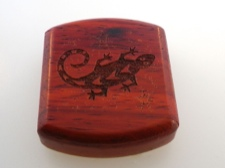 Secret Box - Gecko - African Paduak Wood
