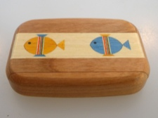 Secret Box - Fish - American Cherry Wood