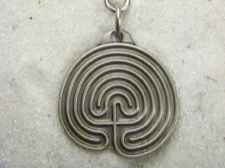 Pewter Keyring Handcrafted Labyrinth