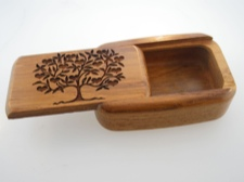 Secret Box - Heart Tree - Central American Teak
